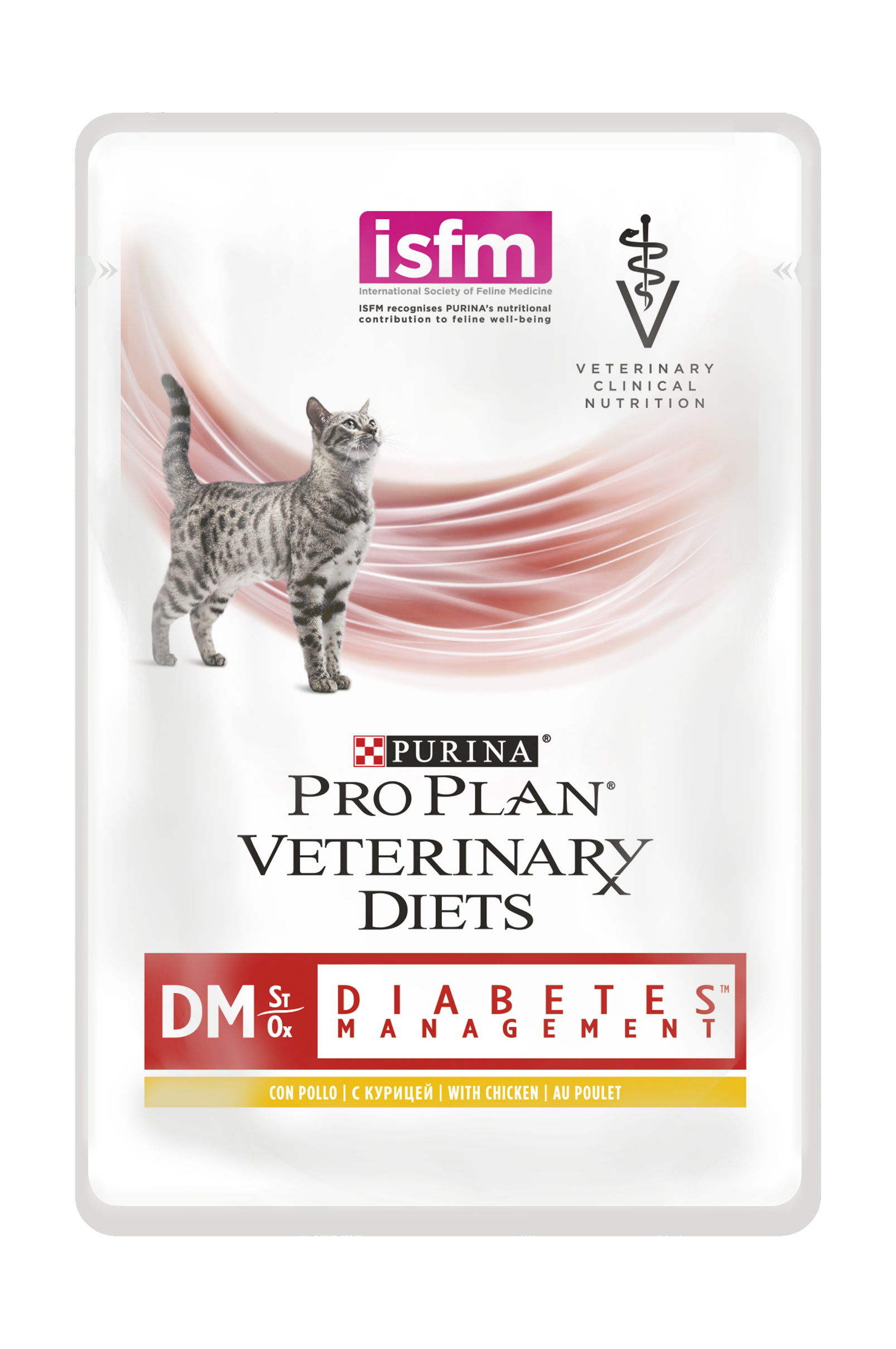 Купить Консервы Purina Pro Plan Veterinary Diets DM для кошек с диабетом, курица, пауч, 85 г в интернет магазине товаров для животных. Интернет магазин зоотоваров в Москве, корма и другие товары для животных