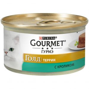 Консервы для кошек Purina Gourmet Gold Террин, кролик по-французски, банка, 85 г