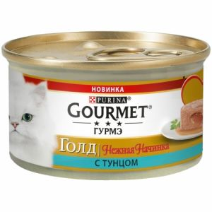 Консервы для кошек Purina Gourmet Gold Нежная начинка, тунец, банка, 85 г