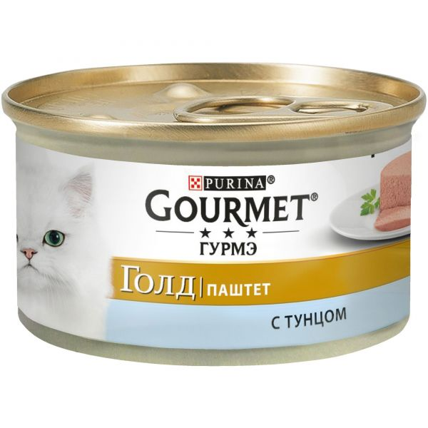 Консервы для кошек Purina Gourmet Gold, тунец, банка, 85 г