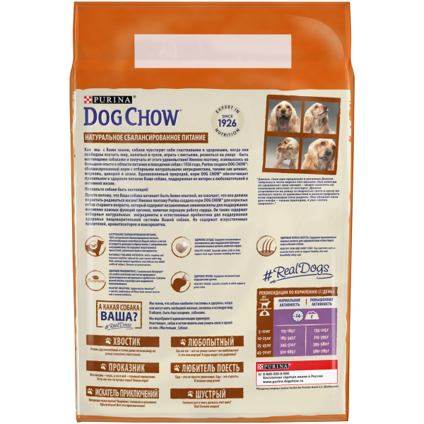 Сухой корм Purina Dog Chow Mature Adult для собак старше 5 лет, ягнёнок, пакет, 2,5 кг