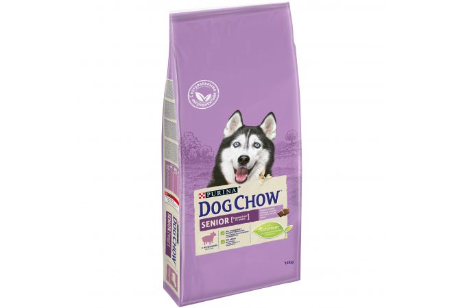 Сухой корм Purina Dog Chow Senior для собак старше 9 лет, ягнёнок, пакет, 14 кг